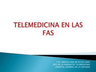 TELEMEDICINA EN LAS FAS