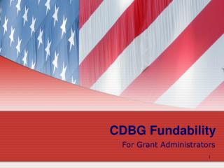 CDBG Fundability