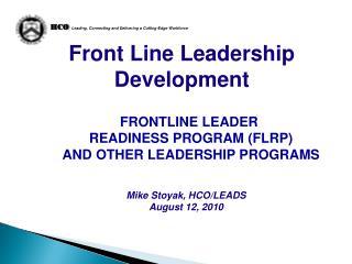 Front Line Leadership Development