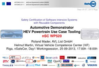 Automotive Demonstrator HEV Powertrain Use Case Tooling nSC WP520 Roland Mader, AVL List GmbH