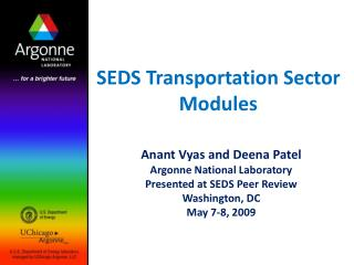 SEDS Transportation Sector Modules