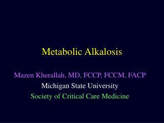 Metabolic Alkalosis