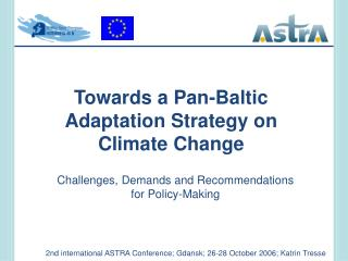 Towards a Pan-Baltic Adaptation Strategy on  Climate Change