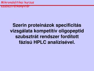 Mikronalalitikai kurzus      szubsztrátkönyvtár
