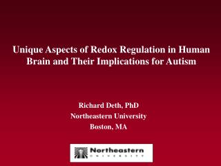 Unique Aspects of Redox Regulation in Human Brain and Their Implications for Autism
