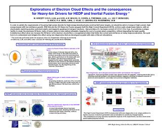 Explorations of Electron Cloud Effects and the consequences
