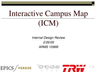 Interactive Campus Map (ICM)