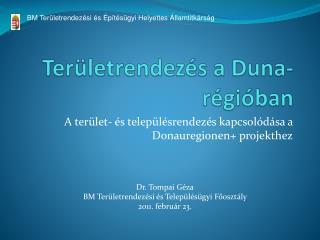 Területrendezés a Duna- régióban