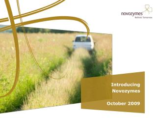 Introducing  Novozymes October 2009