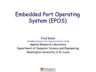 Embedded Port Operating System (EPOS)