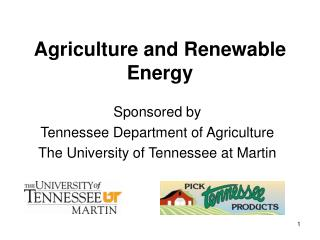 Agriculture and Renewable Energy