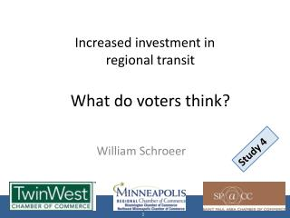 Increased investment in  regional transit What do voters think?