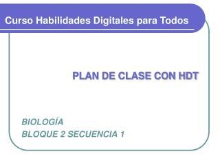 PLAN DE CLASE CON HDT