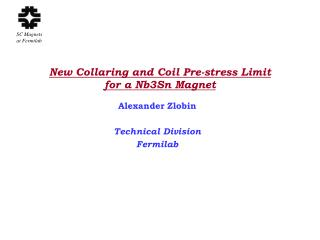 New Collaring and Coil Pre-stress Limit for a Nb3Sn Magnet