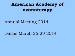 American Academy of ozonoterapy