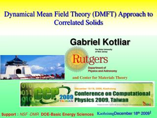 Dynamical Mean Field Theory (DMFT) Approach to Correlated Solids