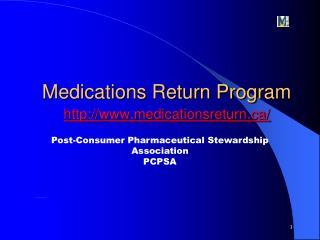 Medications Return Program medicationsreturn/