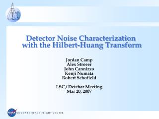 Detector Noise Characterization  with the Hilbert-Huang Transform
