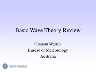 Basic Wave Theory Review
