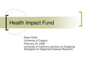Health Impact Fund