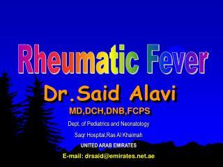 Dr.Said Alavi   MD,DCH,DNB,FCPS
