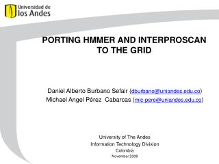 PORTING HMMER AND INTERPROSCAN TO THE GRID
