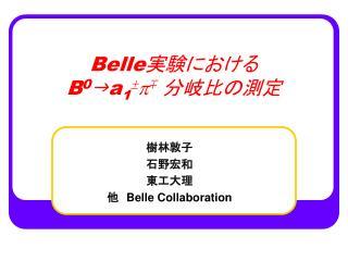 Belle 実験における B 0 g a 1  p  分岐比の測定