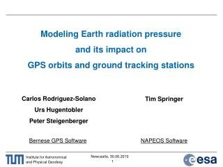 Modeling Earth radiation pressure  and its impact on  GPS orbits and ground tracking stations