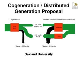 Cogeneration / Distributed Generation Proposal Oakland University