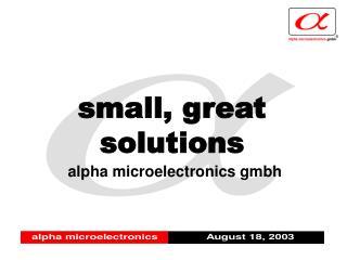 alpha microelectronics gmbh
