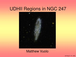 UDHII Regions in NGC 247