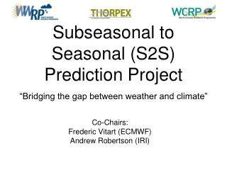 Subseasonal to Seasonal (S2S) Prediction Project