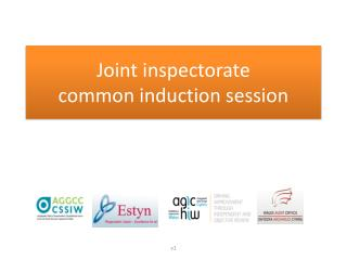 Joint inspectorate  common induction session