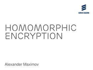 Homomorphic Encryption