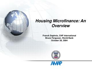 Housing Microfinance: An Overview