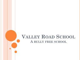 Valley Road School A bully free school