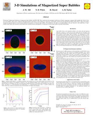 3-D Simulations of Magnetized Super Bubbles