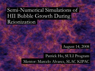Semi-Numerical Simulations of