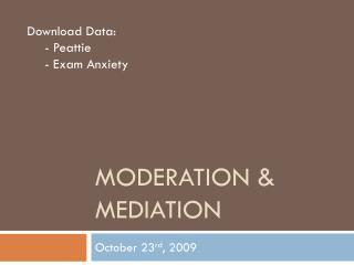 Moderation & Mediation