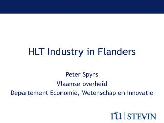 HLT Industry in Flanders