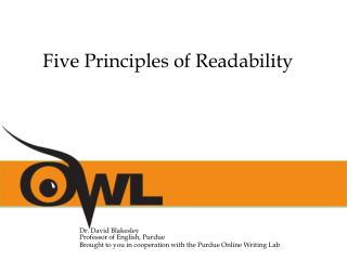 Five Principles of Readability