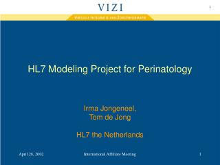 HL7 Modeling Project for Perinatology