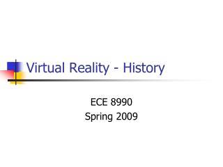 Virtual Reality - History