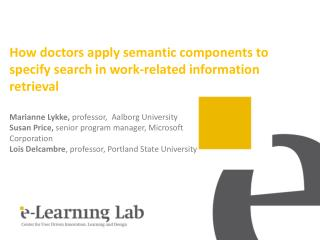 How doctors apply semantic components to specify search in work-related information retrieval