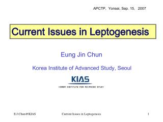 Current Issues in Leptogenesis