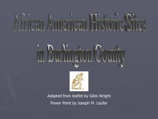 African American Historic Sites in Burlington County