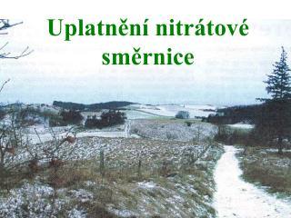 Uplatnění nitrátové směrnice