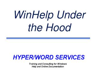 WinHelp Under the Hood