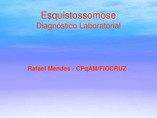 Esquistossomose Diagnóstico Laboratorial