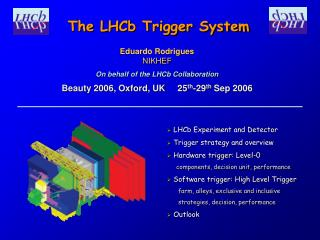 Eduardo Rodrigues NIKHEF On behalf of the LHCb Collaboration